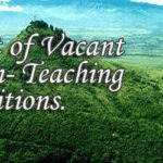 List of Vacant Non-Teaching Positions as of August 2016