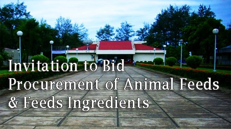 Invitation to Bid  Procurement of Animal Feeds & Feeds Ingredients