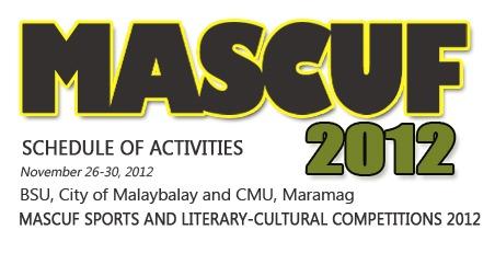 MASCUF 2012 SCHEDULE OF ACTIVITIES