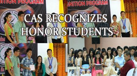 CAS RECOGNIZES HONOR STUDENTS