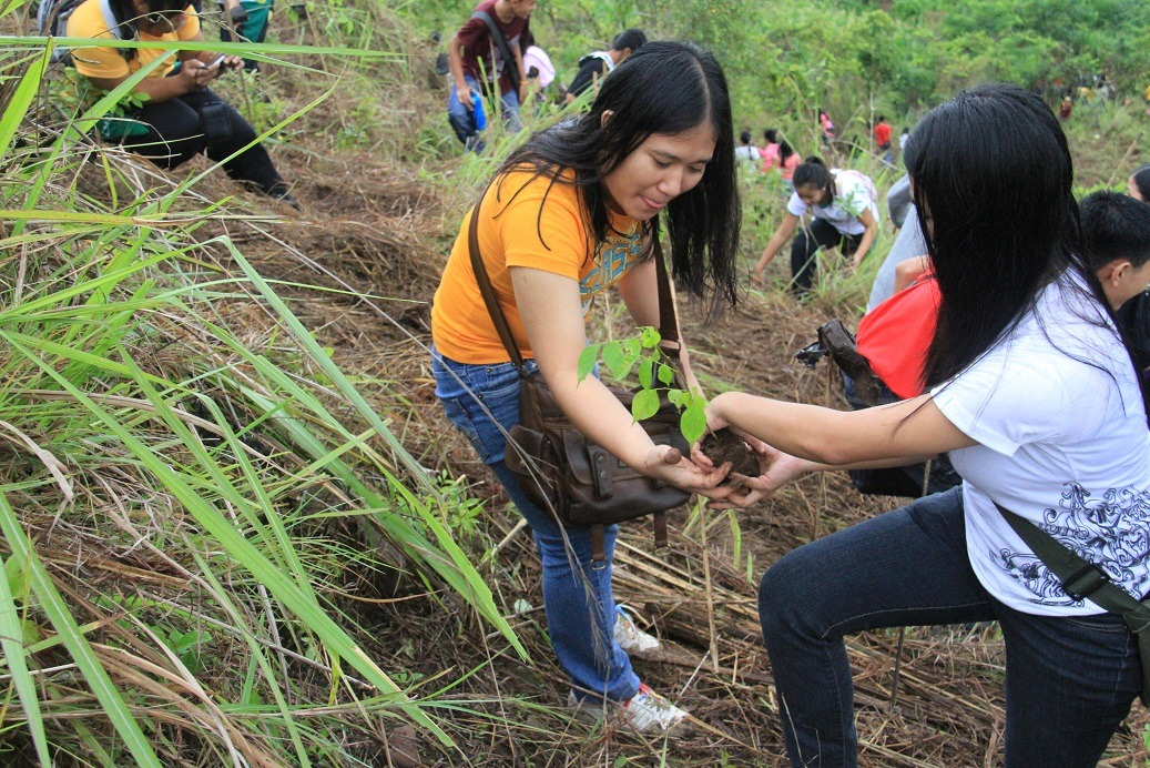 CMU officials, faculty, staff and students join Tree Planting activity held at Mt. Musuan peak