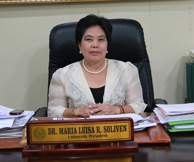 Dr. Maria Luisa R. Soliven, the University President pilots Central Mindanao University since 2011 to Present