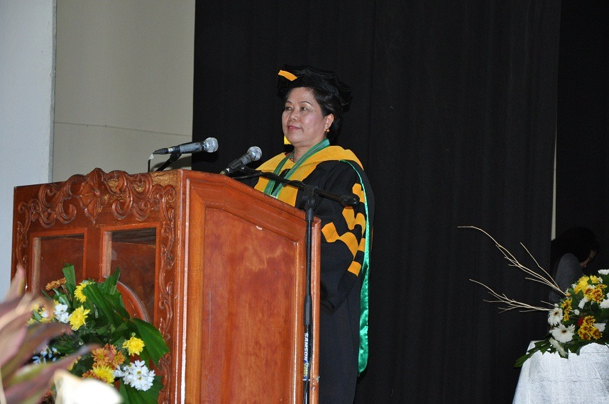 Dr. Maria Luisa R. Soliven, President, CMU confirms graduates of 2013.