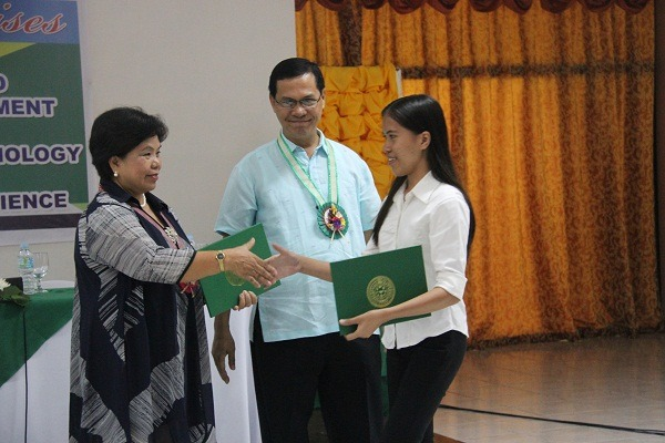 Dr. Maria Luisa R. Soliven together with Mr. Valmores.