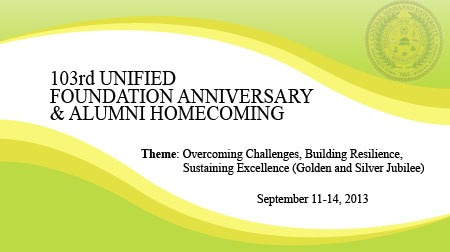 103rd UNIFIED FOUNDATION ANNIVERSARY & ALUMNI HOMECOMING
