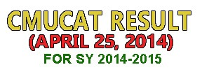 ULHSAT RESULTS  FOR SY 2014-2015 APRIL 25 2014