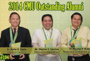 CMUAAI awards 2014 CMU Outstanding Alumni