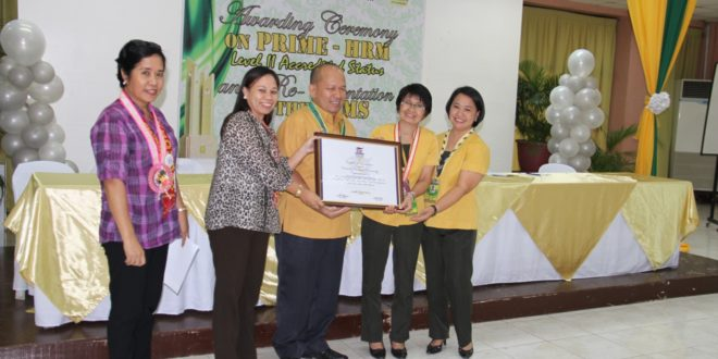 CMU HRMO is PRIME  HRM  Level II Accredited