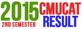 2015 2nd semester cmucat result
