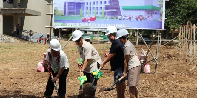 Groundbreaking ceremony held for CAS Annex Building I