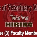 College of Veterinary Medicine Job Hiring 2016