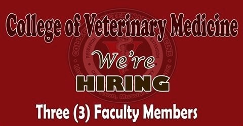 College of Veterinary Medicine Job Hiring 2016