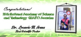Engr. Acma wins best poster award at 38th NAST