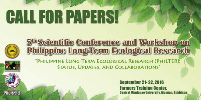Call for Papers: 5th Scientific Conference and Workshop on Philippine Long-Term Ecological Research