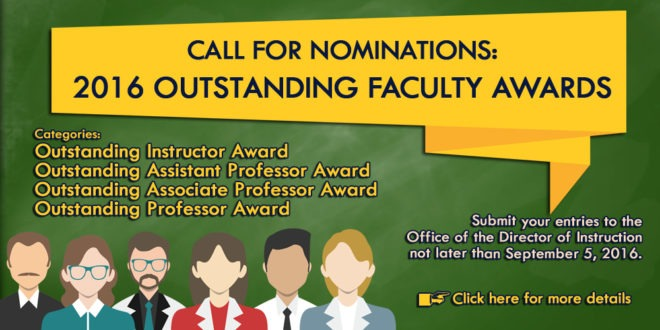 2016 call for faculty nominees