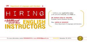 English Instructors