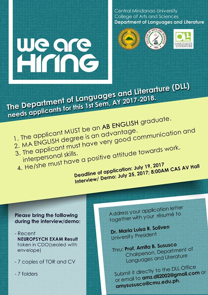 hiring english teachers