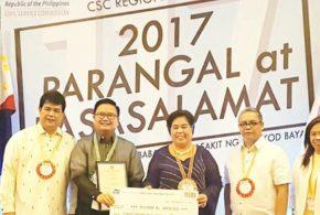 Dr. Amoroso hailed regional winner of 2017 CSC Pag-asa Award