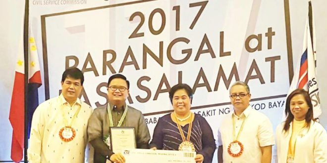 Dr. Amoroso hailed regional winner of 2017 CSC Pag-asa Award