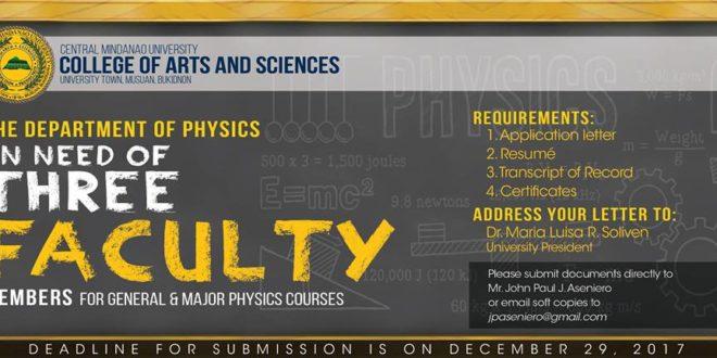 HIRING: Physics Instructors