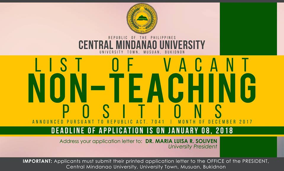 HIRING NON-Teaching Position 2017