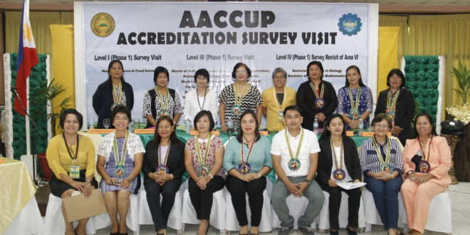 BS Biology program re-accredited Level IV by AACCUP