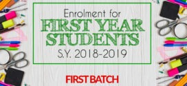 Enrolment Schedule for FIRST YEAR STUDENTS S.Y. 2018-2019