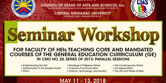 LOOK: Seminar-Workshop for faculty of Higher Education Institutions (HEIs) teaching mandated courses of the General Education Curriculum (GE) in CMO 20 Series of 2013: Parallel Sessions.