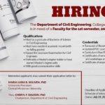 HIRING: Department of Civil Engineering, College of Engineering One (1)