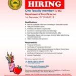 LOOK: Department of Food Science, One (1)