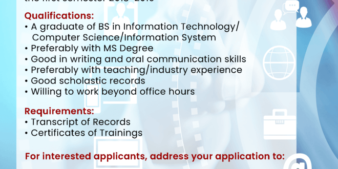 HIRING: Institute of Computer Applications (ICA)
