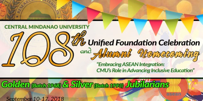 Schedule for 108th Unified Foundation Celebration and Alumni Homecoming