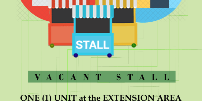 LOOK: One (1) unit vacant stall at the Extension Area, University Commercial Complex.