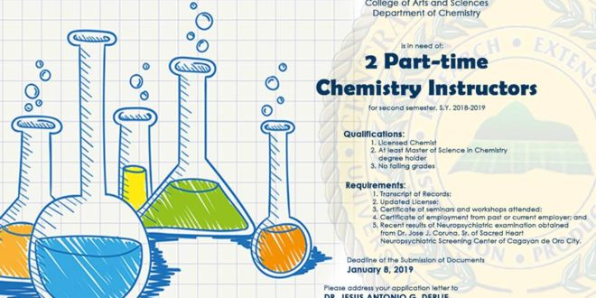 HIRING: Department of Chemistry