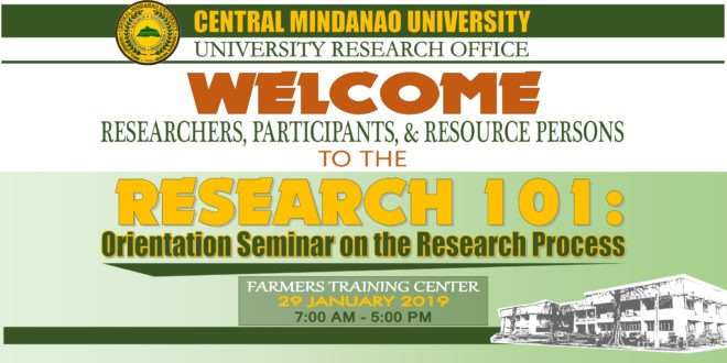 LOOK: Research 101: Orientation Seminar on the Research