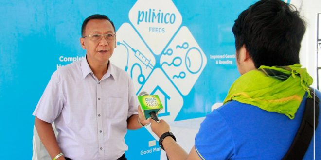 IN PHOTOS: Dr. Jesus Antonio G. Derije, SUC-President IV during an interview with GMA 7 about the new Agri Tourism Hub.