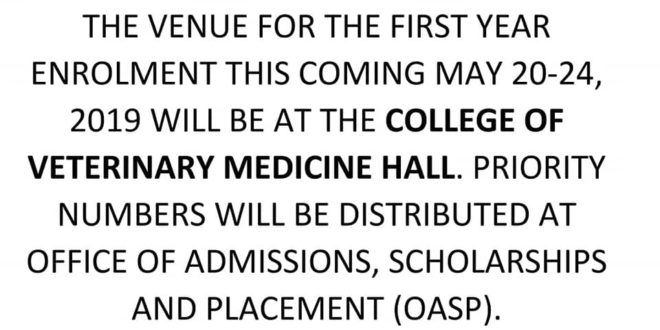 LOOK: Guidance for second batch of CMUCAT passers. Welcome to Central Mindanao University!