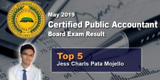 Congratulations to our newly Certified Public Accountants especially to Jess Charls Pata-Mojello, 5th placer in the May 2019 Certified Public Accountant Licensure Examination!