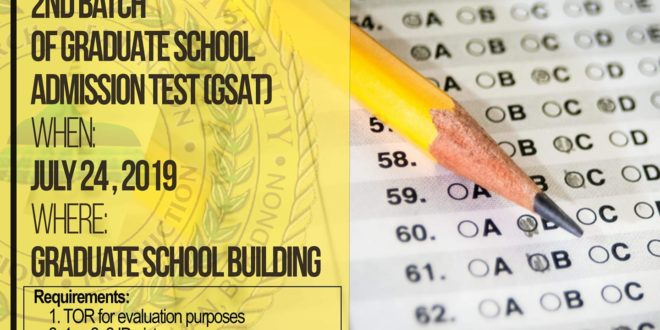 LOOK: 2nd batch of Graduate School Admission Test (GSAT)