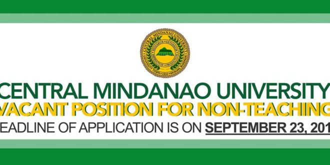 HIRING: Vacant positions for non-teaching
