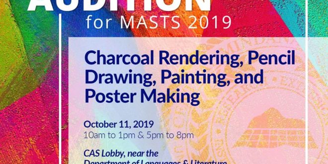 LOOK: AUDITION for MASTS 2019 Be part of CMU MASTS 2019 Delegation! Audition NOW!