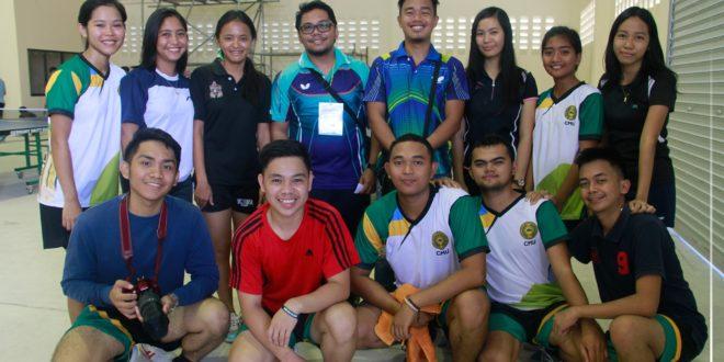 IN PHOTOS: CMU Table Tennis players at Mambajao Municipal Storage Building, Camiguin, November 25