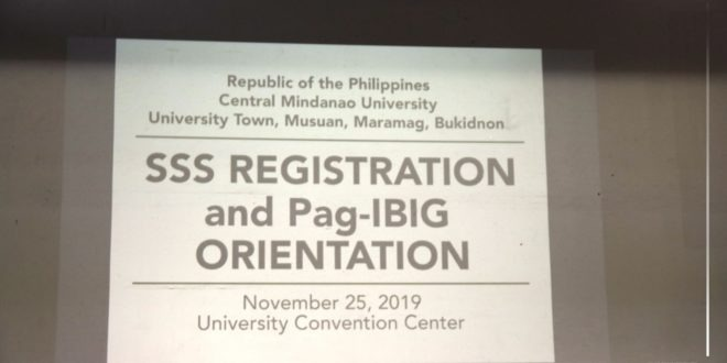 IN PHOTOS: The Faculty and Staff of CMU had an SSS Registration and Pag-IBIG Orientation at the University Convention Center.