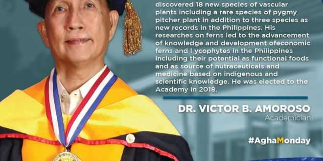 CMUPride: Get to know more CMU's Professor Emeritus and NAST Academician, Dr. Victor B. Amoroso. Check out the NAST PHL post below.