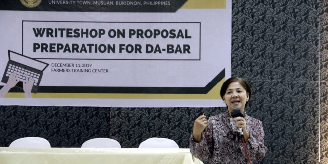 IN PHOTOS: A Writeshop on Proposal Preparation for DA-BAR was held at the Farmers Training Center last December 11