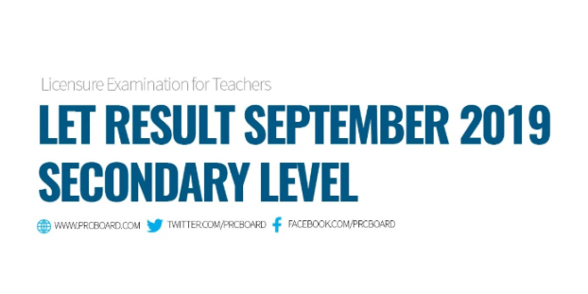 Congratulations to the passers of September 2019 Licensure Examination for Teachers!