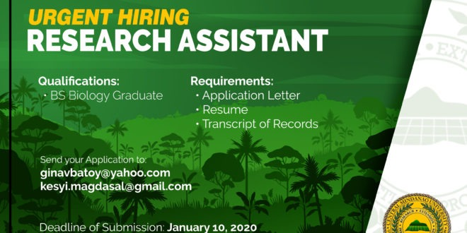URGENT HIRING: CEBREM is in need of a Research Assistant.