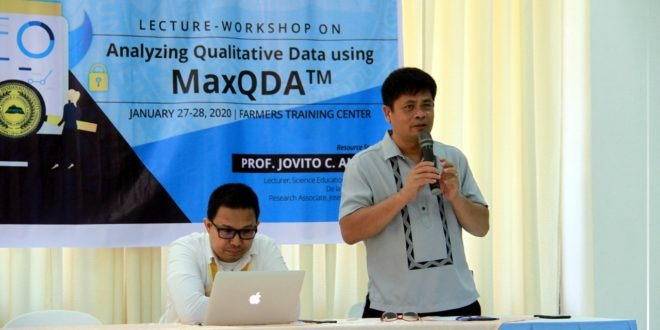 ICYMI: Lecture-Workshop on Analyzing Qualitative Data using MaxQDA Day 1.
