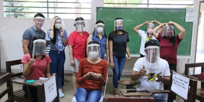 CMU produces Improvised Face Shields, Cloth Face Masks for COVID-19 Frontliners