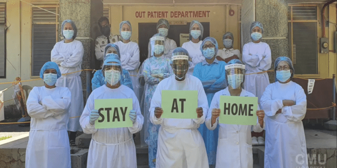 #CMUcares 💕: CMU Frontliners remind us to help stop the spread of COVID-19 by staying in our homes. This is not a Flu! There is no Cure! #StayAtHome